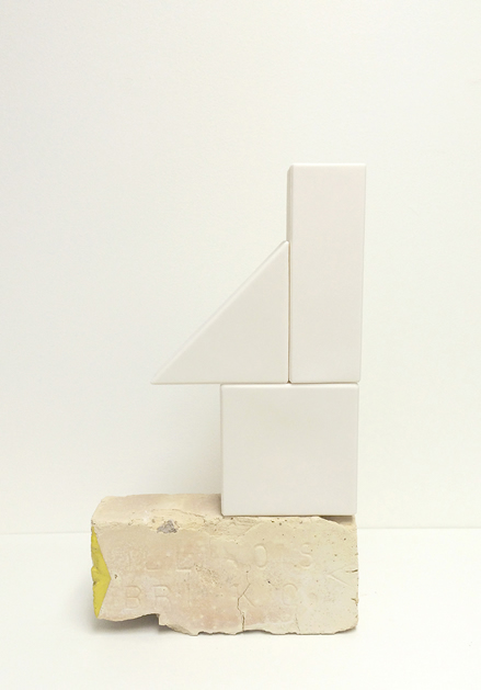 Mie Kongo 2015 - Unknown game series - White Porcelain, brick, glaze