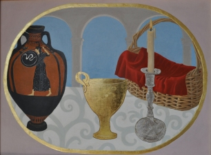 ST. LUKE ART STUDIO  Paintings oil egg tempera , gold on wood panel