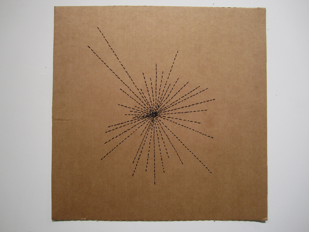 Cardboard embroidery: Cosmological Pulsar Mapping, after Rodchenko - 2014 to present Cosmological Pulsar Mapping, after Rodchenko