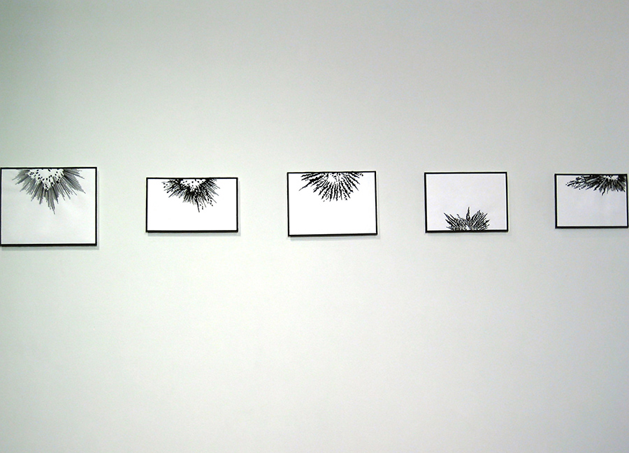 Embroidery: Explosions & Rays - 2004 to 2012 On the Subject of WAR - install view