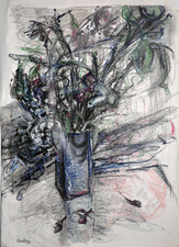 Mimi Oritsky Drawings  conte, pastel, oil on paper