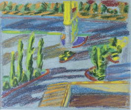 Mimi Oritsky Paintings pastel, conte on paper