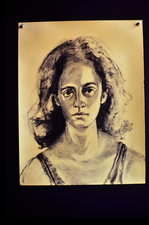 Mimi Oritsky Portraits Charcoal on paper