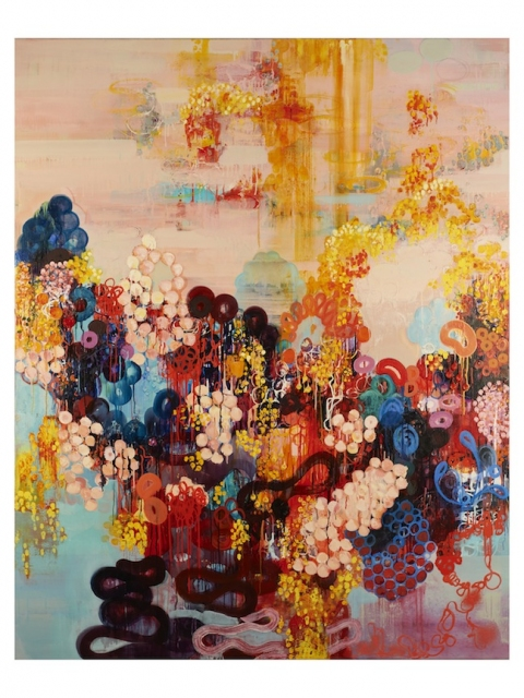 Sarah Lutz Sarah Lutz: Macaroon, 2011, oil on linen, 60 x 48 inches