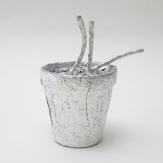 Metal Metal Sculptures: potted plant