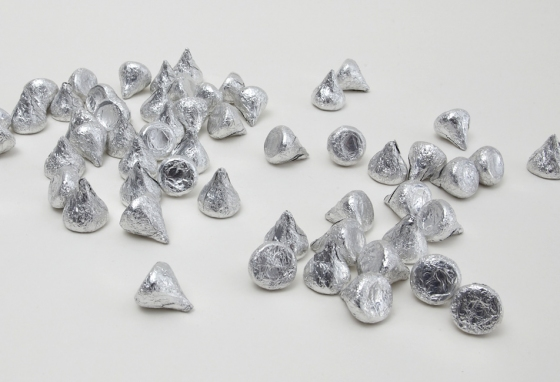 Metal Sculptures: hershey kisses