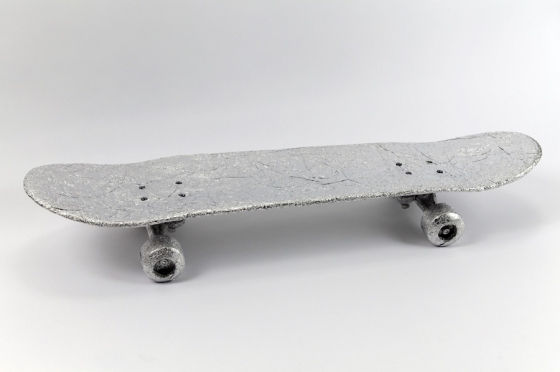 Metal I made a skateboard.