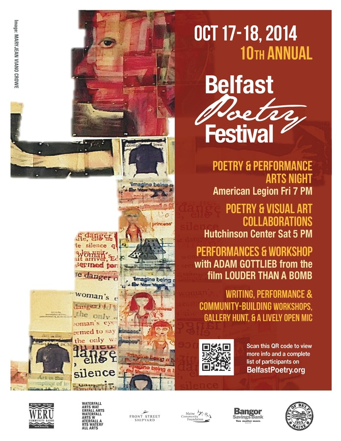 INSTALLATION: White Lies & Prayers Belfast Poetry Festival Poster