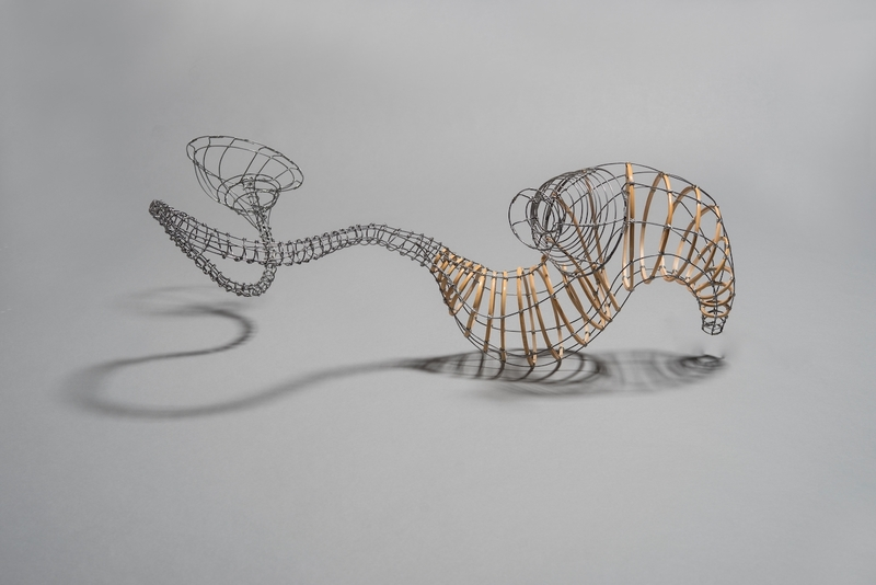 MO  KELMAN Recent Work constructed steel wire and bamboo