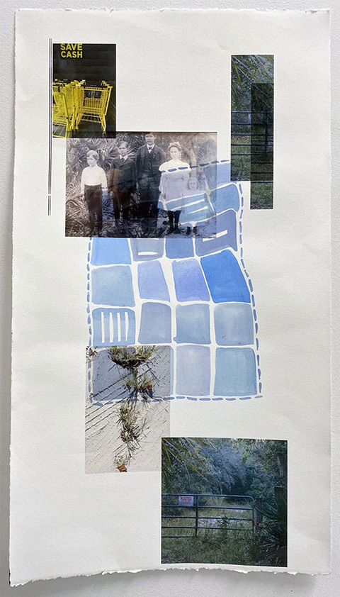Mollie Murphy This is Florida photocollage, watercolor on paper