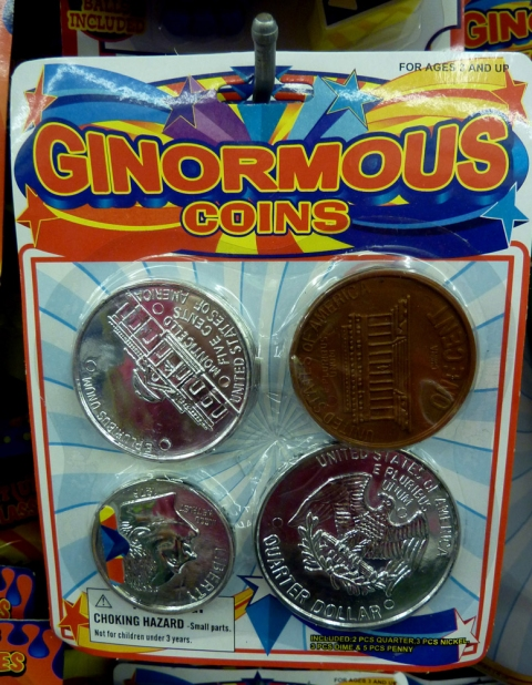 dollar store ginormous coins
