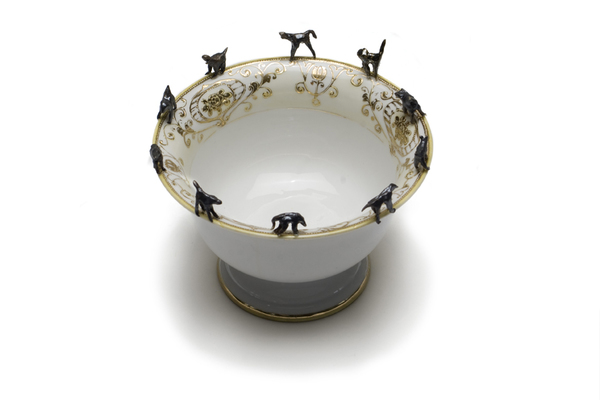 Monica Banks Brute Creation Porcelain with found dish