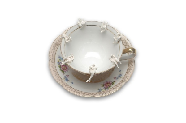 Monica Banks Tea and Sympathy Porcelain, cup and saucer