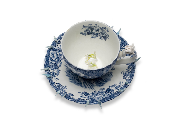 Monica Banks Brute Creation Porcelain with found teacup