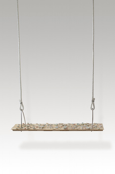 Monica Banks True Confections Balsa wood, rope, wire, porcelain