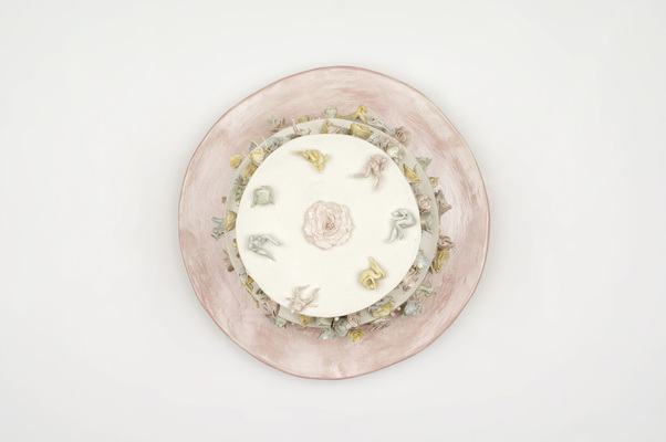 Monica Banks Butterfly Pie Glazed English Porcelain