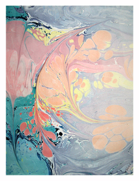 Marjorie Tomchuk Marbling marbling on mulberry paper
