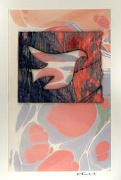 Marjorie Tomchuk  Cards & Small Prints collage using marbled paper