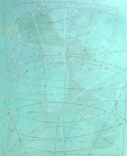 nancy berlin continuation/notations Oil stick and graphite on paper