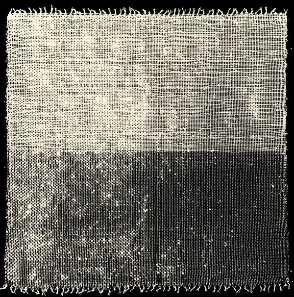 NANCY BRETT Weaving Linen, cotton thread, and mylar