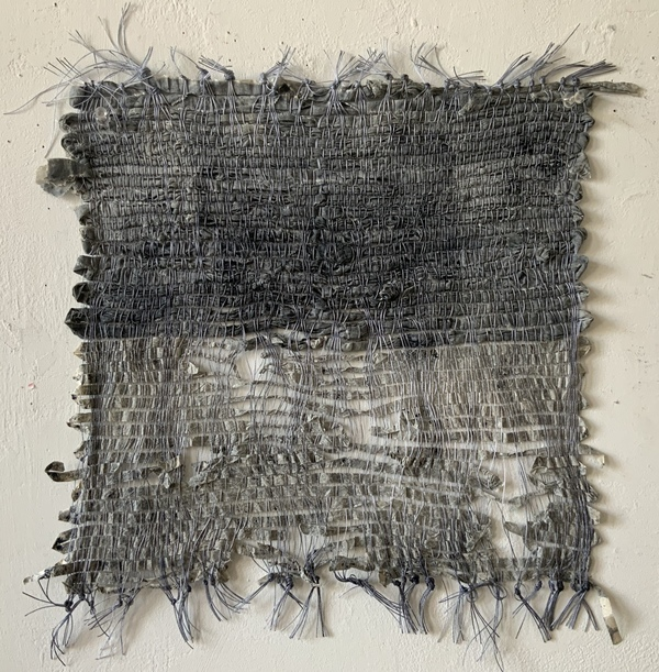 NANCY BRETT Weaving SIlk, paper, cotton, and ink