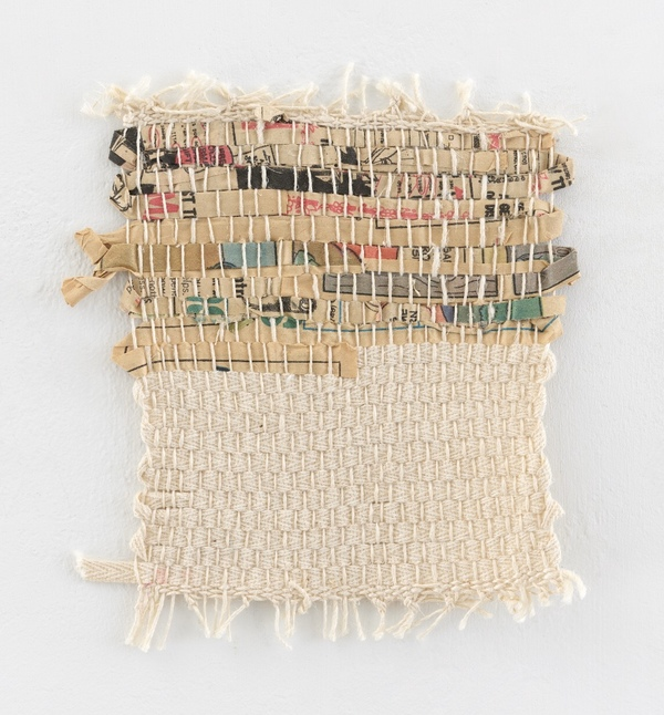 NANCY BRETT Weaving Newspaper and linen