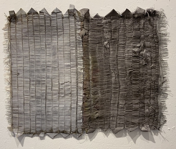 NANCY BRETT Weaving Linen, paper, silk, and ink