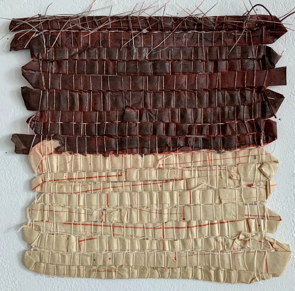 NANCY BRETT Weaving Paper, thread, and ink