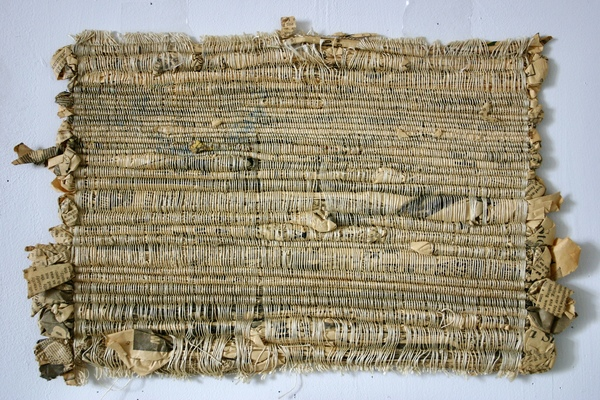NANCY BRETT Weaving Linen, paper, and silk