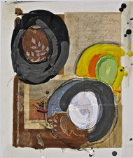 Nancy Ferro Works on Paper Mixed: found papers, graphite, beeswax