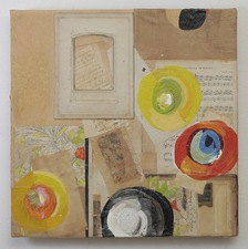 Nancy Ferro New Work Mixed:papers, book cover & pages, graphite, beeswax