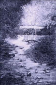 Nancy McTague-Stock Drypoint Landscapes Unique Drypoint
