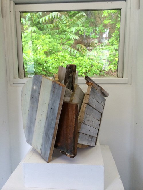 "Material Consequences, Castle Hill Center for the Arts, Truro, Mass, June 2014 ""Pearl"" 2014 by Jeff Hirst"