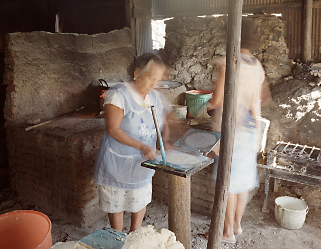 Buyers and Sellers Making Tortillas