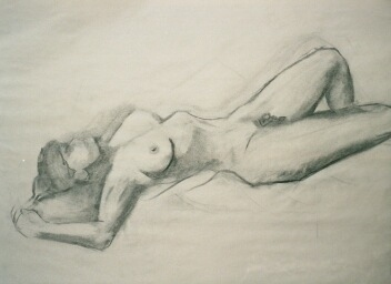 NANCY SCHEER PENCIL Charcoal on paper