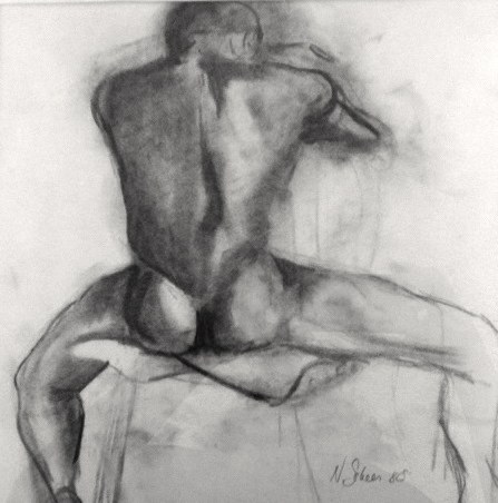 NANCY SCHEER COLLECT Charcoal on paper