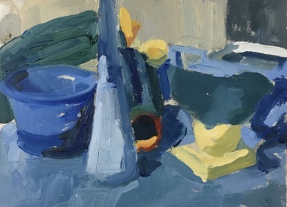 Nancy Tart Still Lifes Oil on Primed Paper