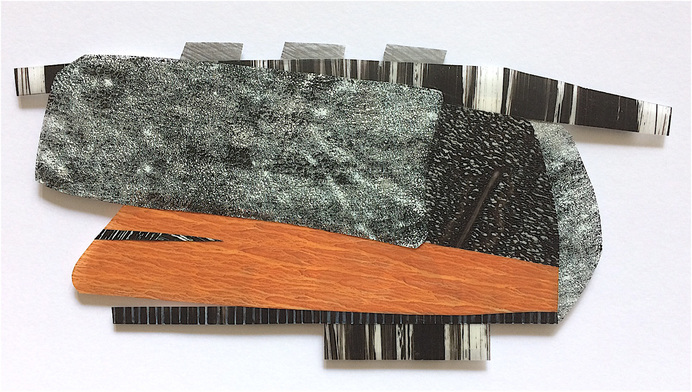 "Nanette Carter  ""Cantilevered"", 2013 - 2019  oils on Mylar"