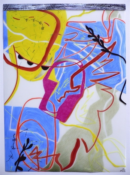 Nanette Carter  2006 - 2012 oils, color pencil,magic marker, Mylar