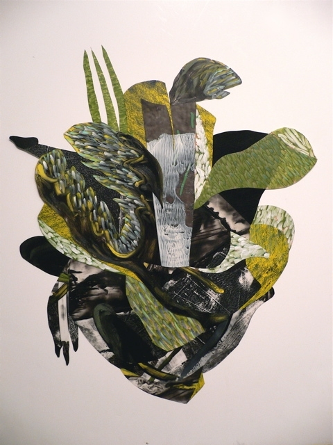 "Nanette Carter  ""In the Garden: The Animist"" and ""Bouquet for Loving"" 2009-2012    oils on Mylar"
