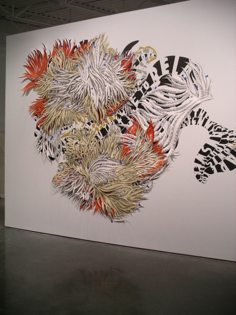 Natasha Bowdoin Installations Cut paper, acrylic paint, gouache and pencil