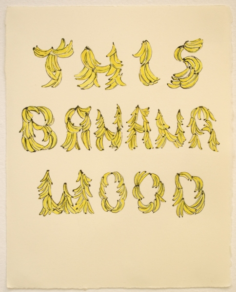 Natasha Bowdoin This Banana Wood Gouache and ink on paper