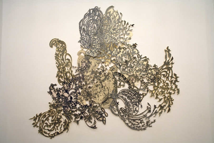 Natasha Bowdoin Signs Graphite on cut paper
