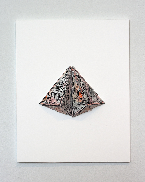 Natasha Bowdoin H E X ∆ M Gouache and ink on cut paper