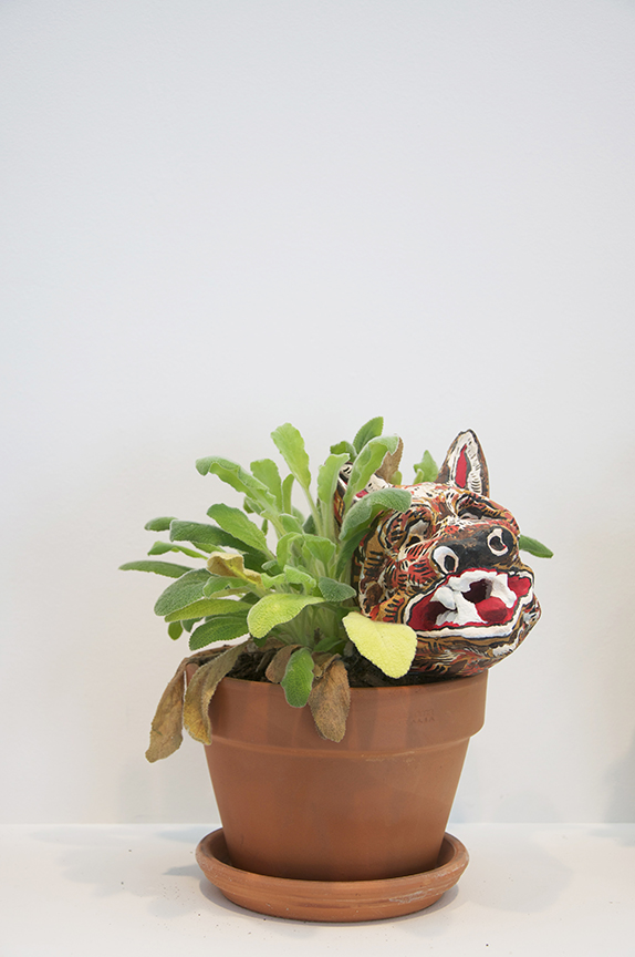 Natasha Bowdoin Plant People Paint on paper mache and plaster