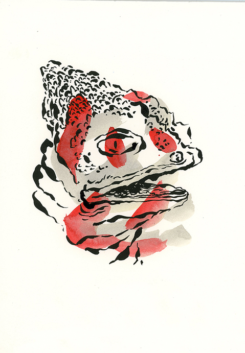 Natasha Bowdoin Animal Print Gouache and ink on paper