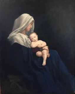 Anne Osso Porco Madonna, after Bouguereau