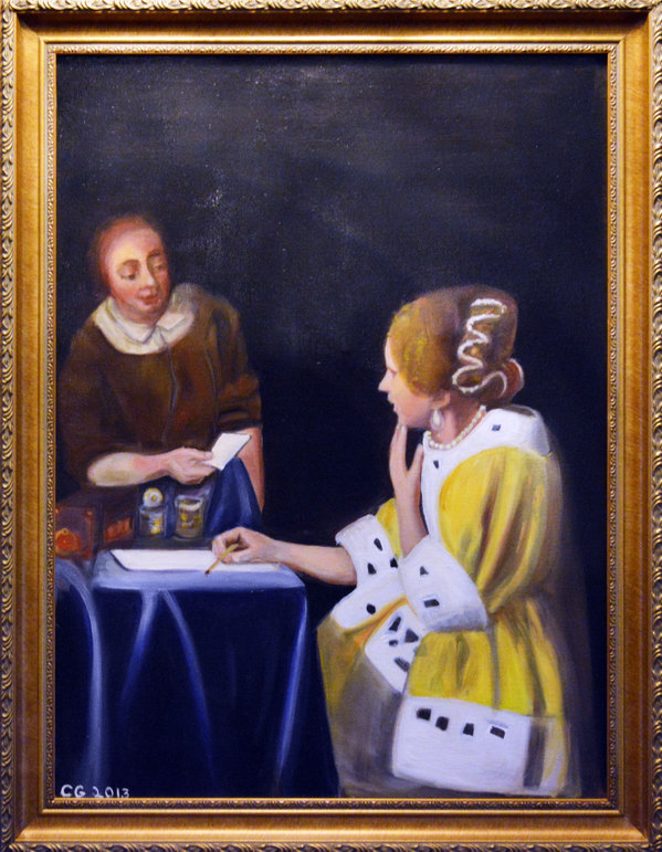 Christine Greiner Lady with her Maid