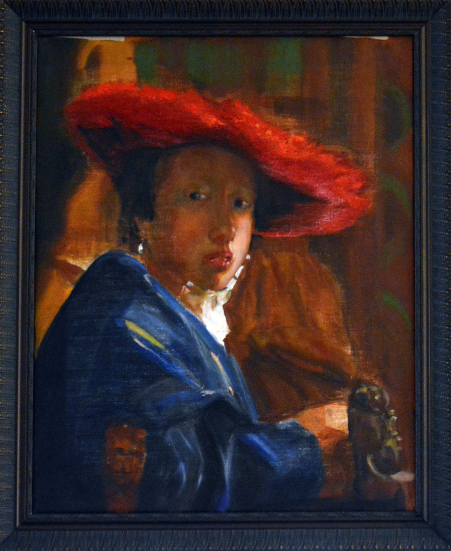 Christine Greiner Lady with Red Hat
