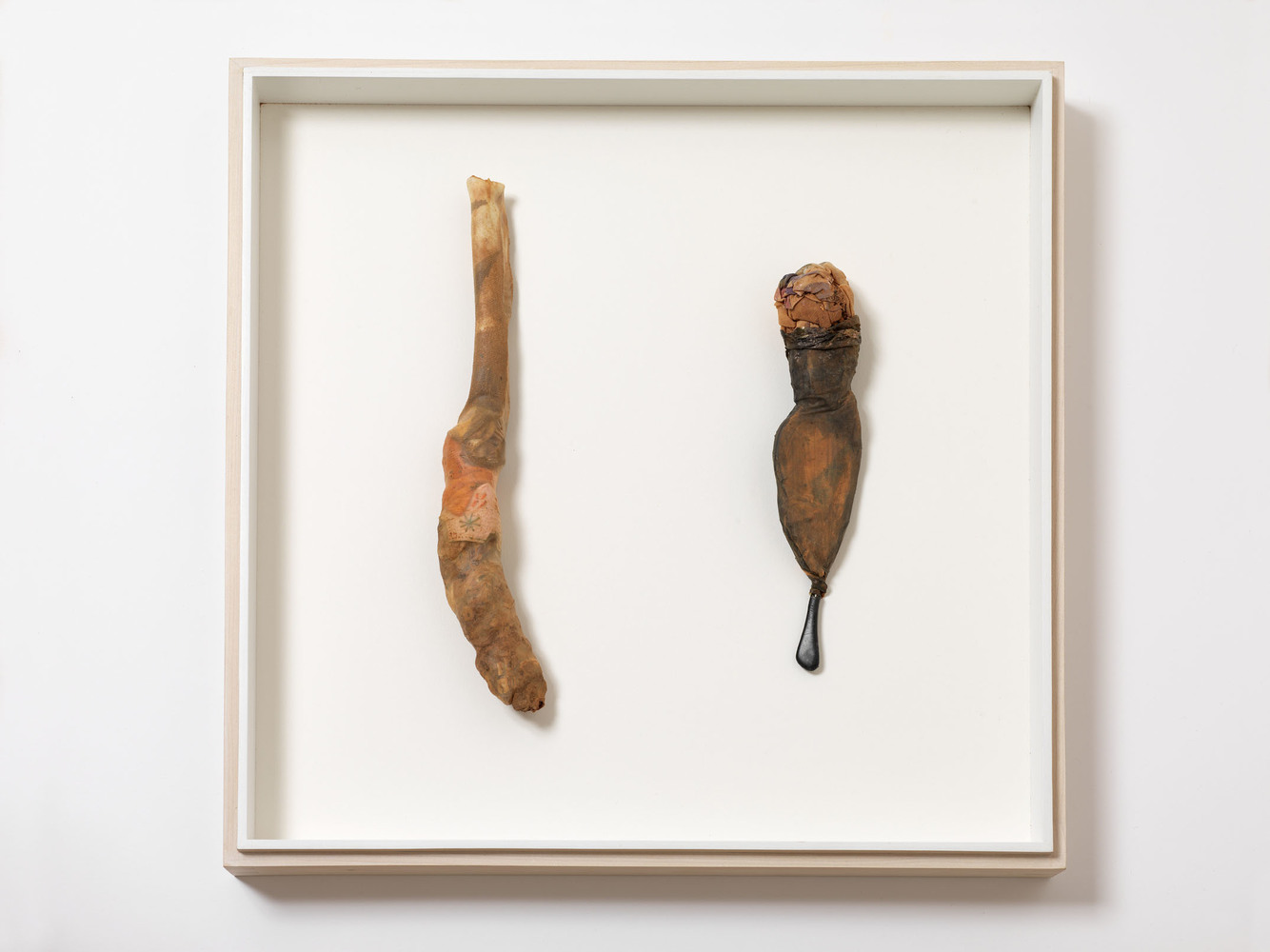 Nicola Ginzel  ARTWORK  overview entrails, dirt, eye glass part, clothing remnants, panty hose